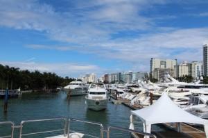 2015 Miami Yacht Show set up