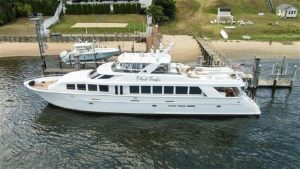 used 100' fort lauderdale boat show hatteras yacht sale