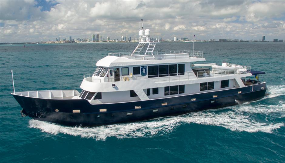 Explore the world aboard this 122 Expedition Yacht