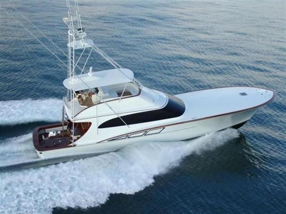 Image gallery large sport fishing boats for Fishing pontoons for sale