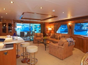 97' Hargrave Yacht Interior