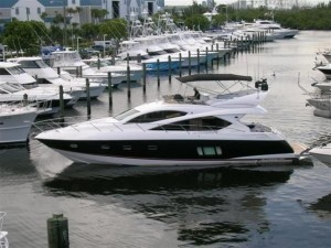 60' Sunseeker yacht for sale at Palm Beach Boat Show