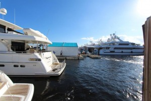 Setting up the Fort Lauderdale Boat Show 2014