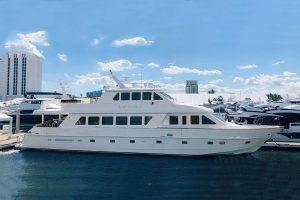 used hargrave motor yacht enclosed bridge sky lounge