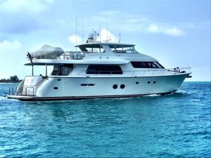 pre-owned 85' pacific mariner yacht sale florida