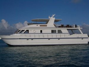 used 90' Boundess yacht for sale florida