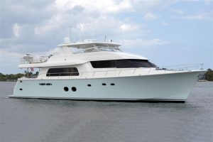 used 85' pacific mariner yacht sale florida