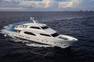 used 96' hargrave yacht with an elevator for sale in florida
