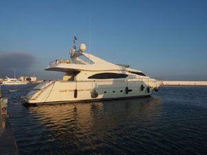 used 88' Ferretti yacht for sale in italy