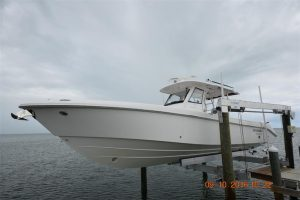 used 35' Everglades boat for sale in Florida