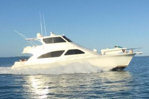 used 65' ocean yacht for sale at the stuart boat show in florida