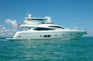 used 80' SUnseeker yacht for sale in florida