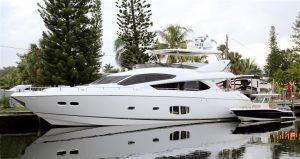 used 80' sunseeker yacht sale florida