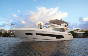 used 2017 75' Sunseeker yacht sale florida