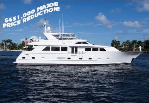 87' broward yacht for sale in florida