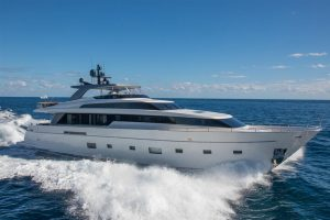 Miami boat show used sanlorenzo yacht for sale 104'
