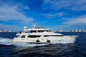 used 107' ferretti yacht for sale in florida usa