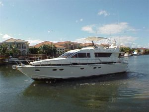 used 58' posillipo yacht for sale in florida