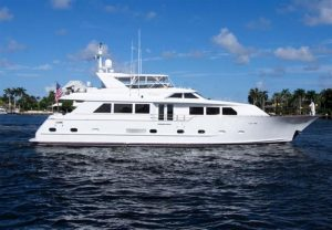 used 87' palm beach boat show broward yacht for sale