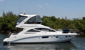 used 45' sea ray sedan bridge boat sale