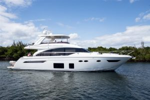 used 68' princess yacht for sale in florida
