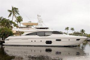 used 69' Ferretti yacht for sale florida 2014