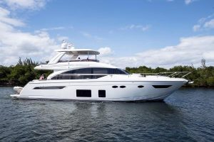 used 68' Princess yacht sale florida
