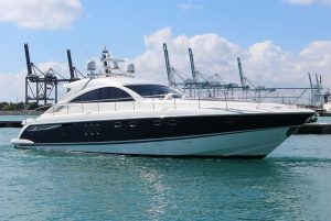 pre-owned 62' Fairline yacht for sale florida